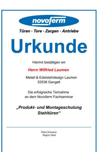 TeilnahmeUrkundeProduktundMontageschulungStahltüre-1